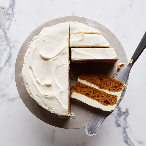 Pumpkin Layer Cake with Mascarpone Frosting