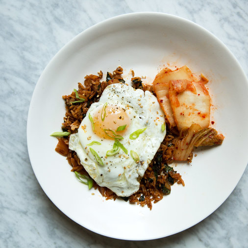 Kimchi and Kale Fried Rice