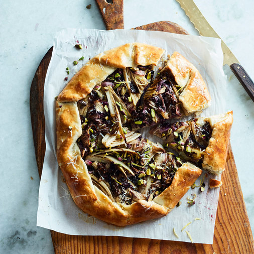 Savory Galette with Radicchio and Endive