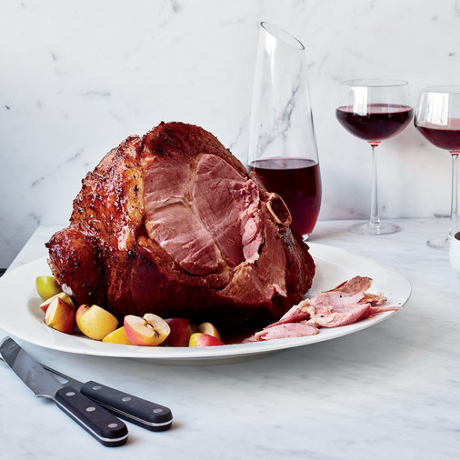 Spiced Brown Sugar Ham with Apple Jus