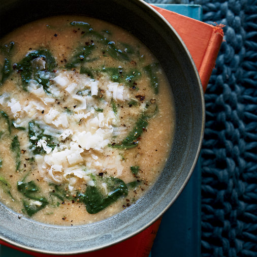 Sweet Brown Rice Risotto with Kale and Cremini