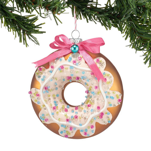Chocolate Doughnut Ornament, $19