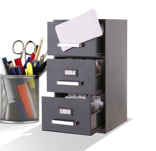 mini business card filing cabinet