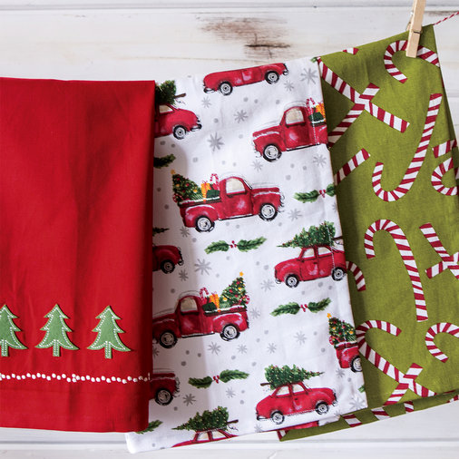 Christmas Dish Towels 7 Each