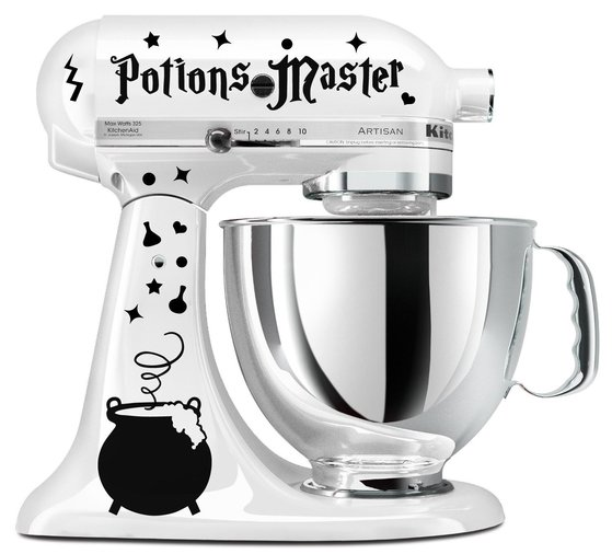Kitchenaid Mixer Decals ~ Harry potter kitchen gadgets for muggles who want to be