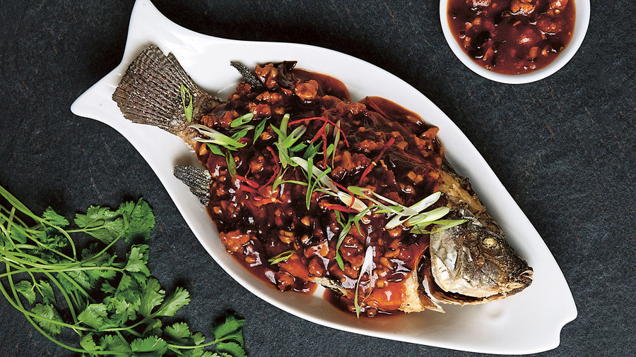 fish in chili sauce - Traditional Chinese New Year Food