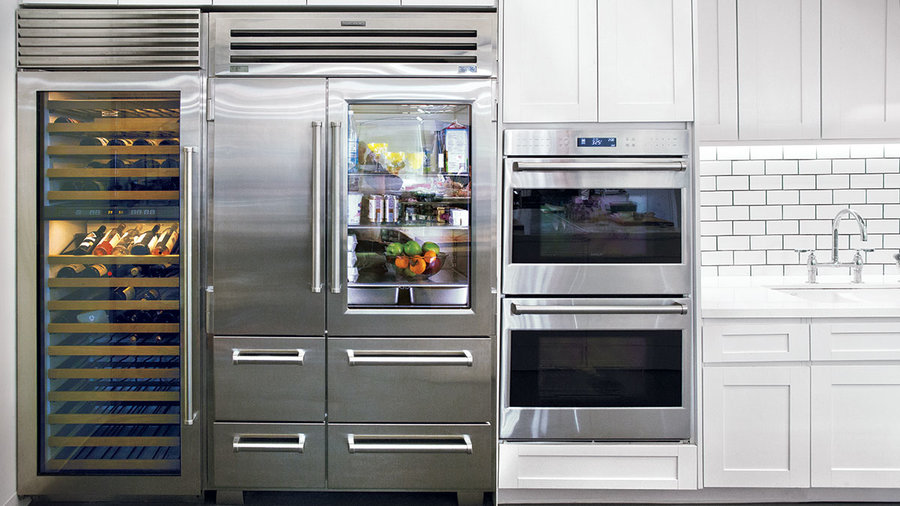 <p>Sub-Zero Wine Fridge and Glass Front Refrigerator</p>