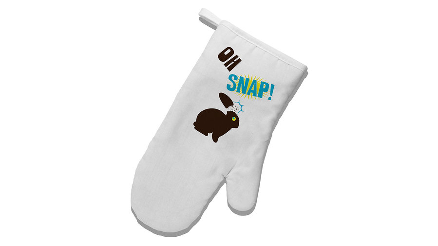 <p>Oh Snap Oven Mitt</p>