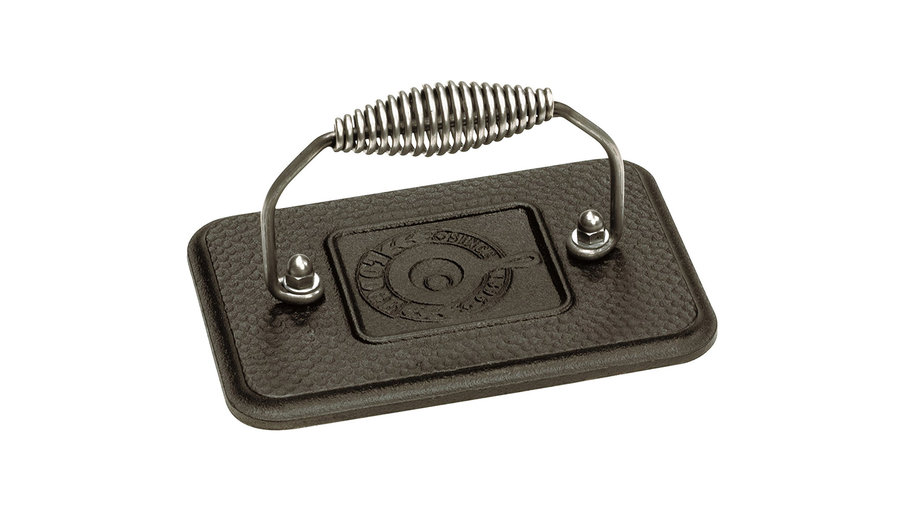 Lodge Rectangular Cast Iron Grill Press