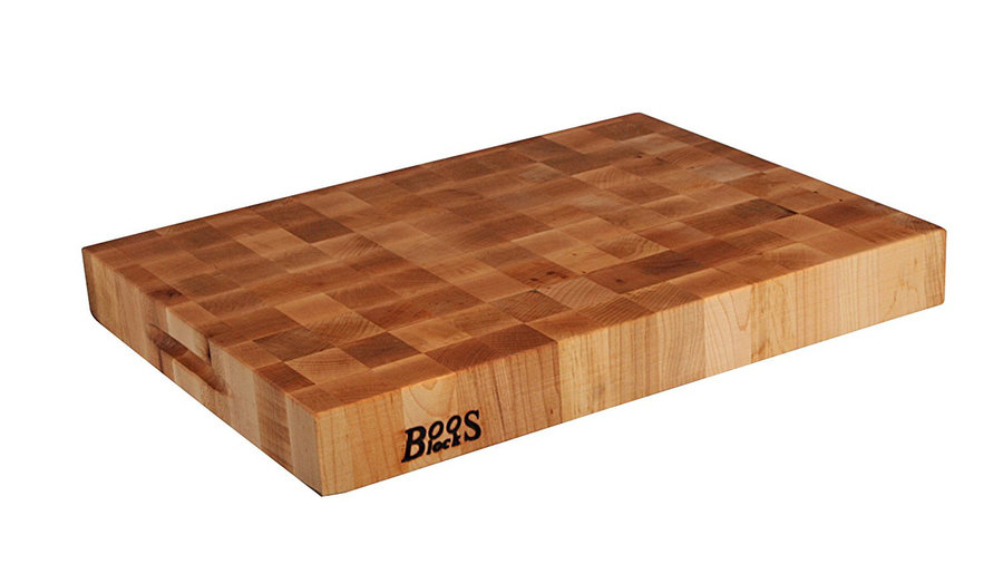 <p>John Boos Maple Wood End Grain Reversible Butcher Block Cutting Board</p>