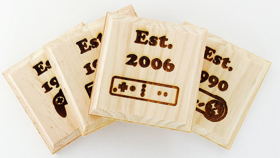 wooden controller coasters