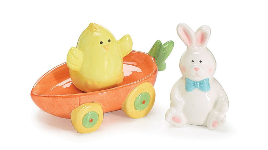 <p><b>Easter Chick & Bunny Salt and Pepper Shakers</b></p>