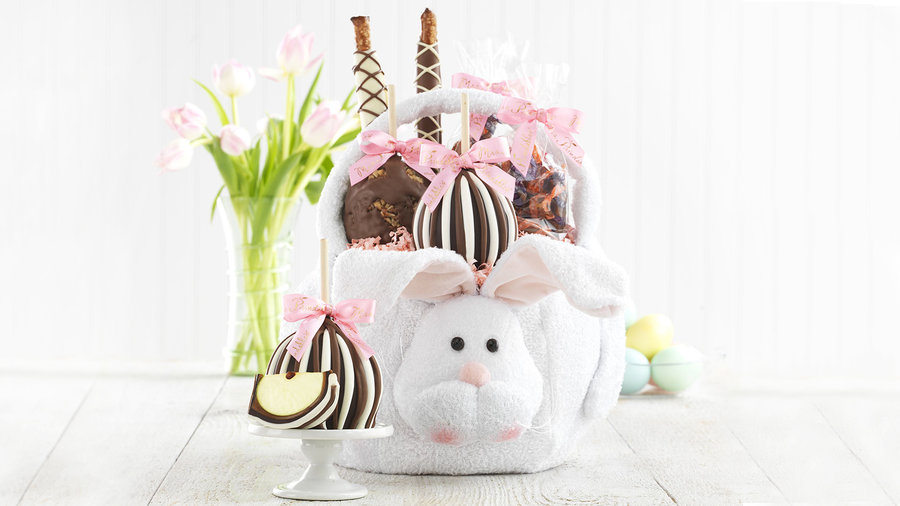 <p><b>Mrs. Prindable's Easter Caramel Apple Basket</b></p>