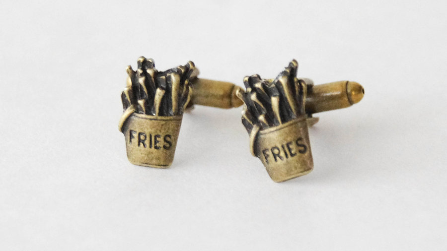 French Fry Cuff Links