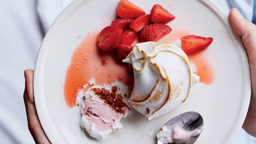Strawberry Baked Alaska