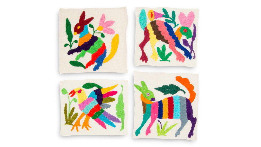 Furbish Studio Otomi Coaster Set