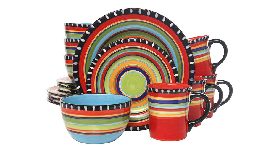 Gibson Elite Pueblo Springs 16-Piece Dinnerware Set