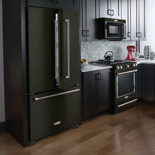 Matte black appliances