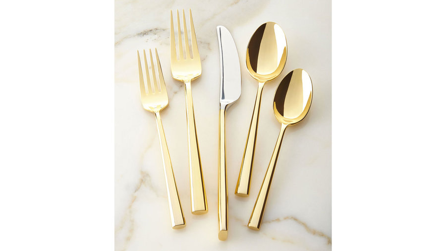 Kate Spade New York 5-Piece Malmo Gold Flatware Place Setting