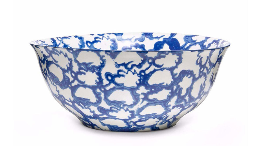 Tory Burch Spongeware Serving Bowl