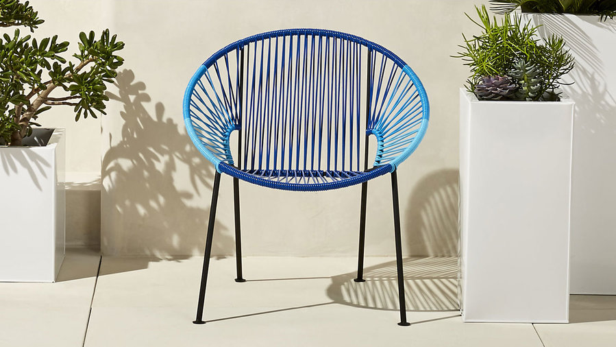 CB2 Ixtapa Blue Lounge Chair