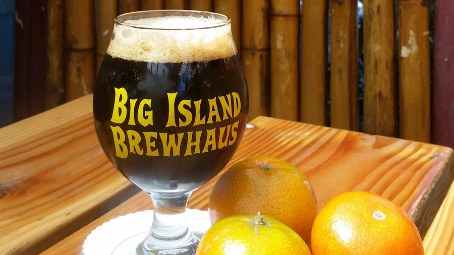 Big Island Brewhaus Tall, Dark & Mandarin Stout