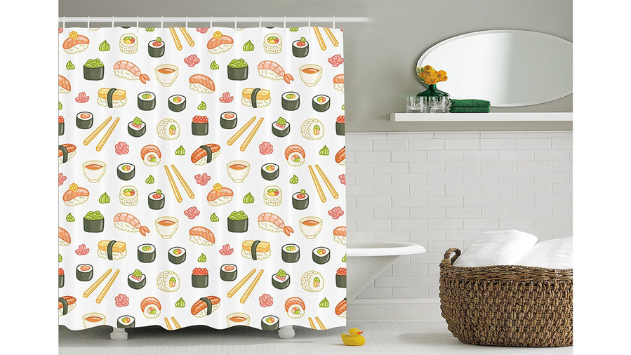 Ambesonne Sushi Shower Curtain