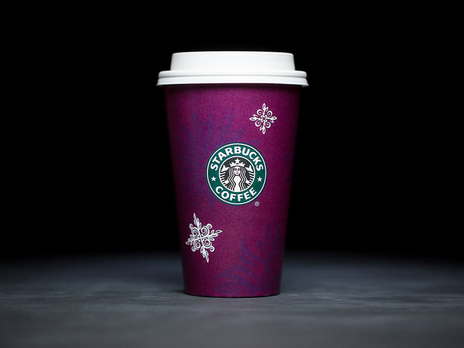 starbucks holiday cup purple