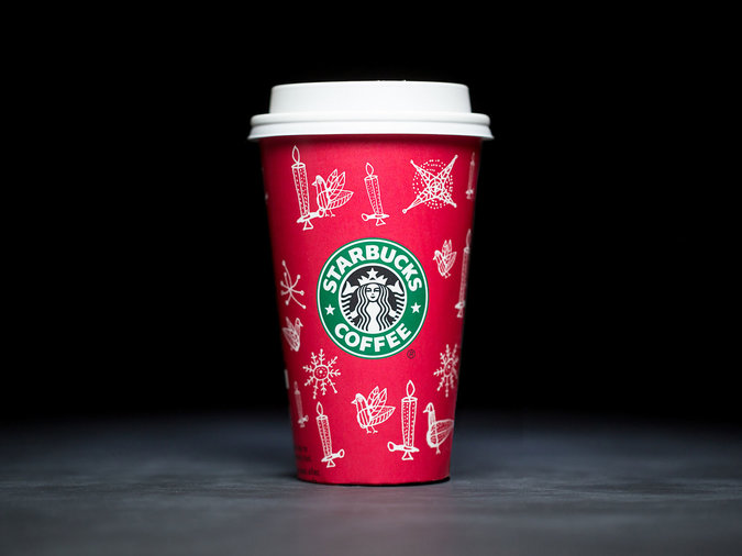 apple red holiday cups for starbucks