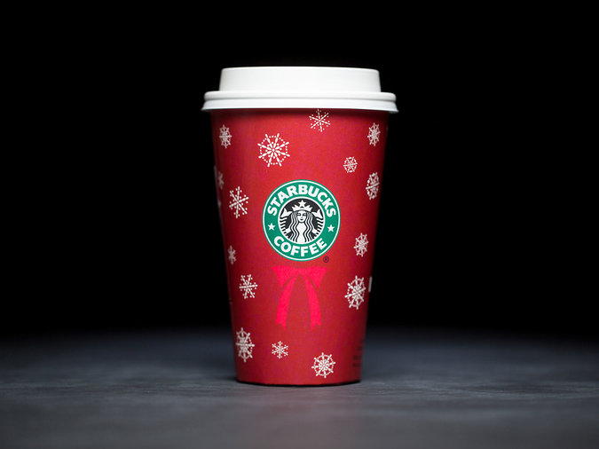 snowflakes holiday cups