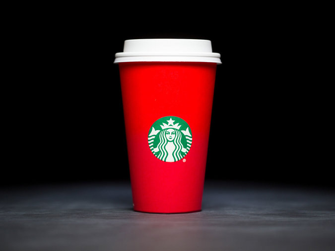 solid red cup