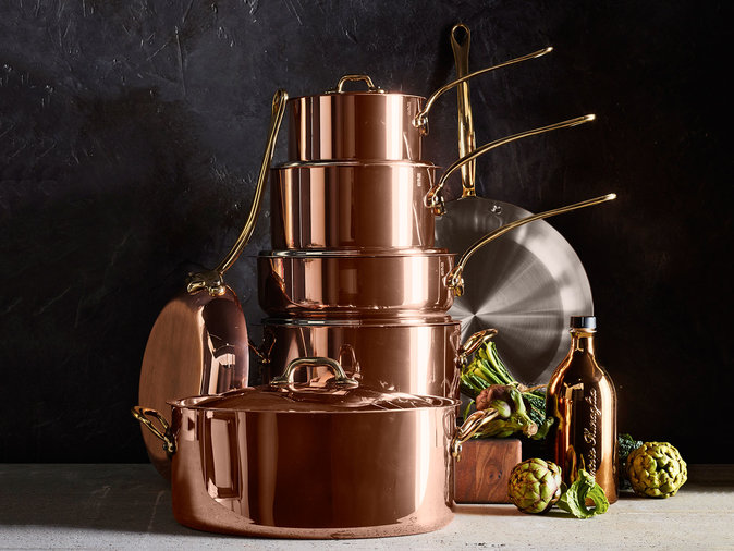 copper pots and pans set