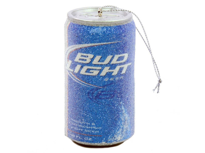 bud light beer can ornament
