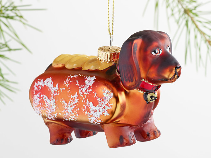 hot dog ornament