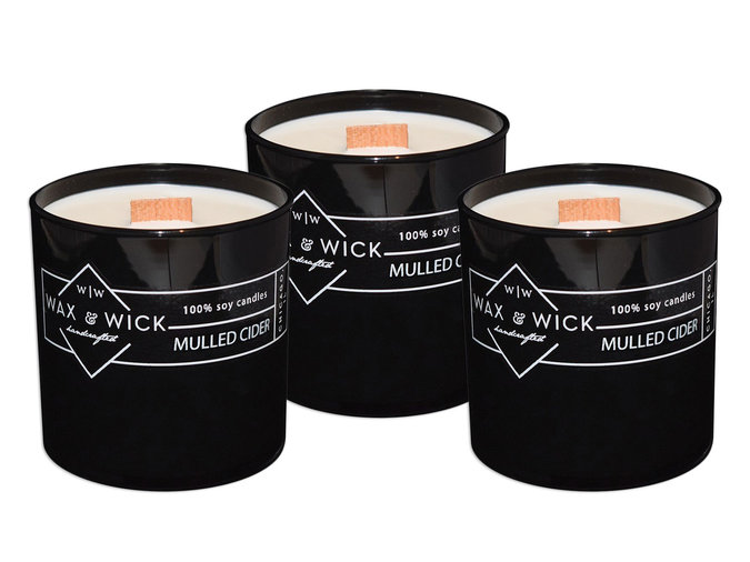 mulled cider scented candles