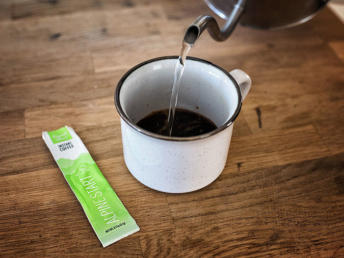 instant coffee packet
