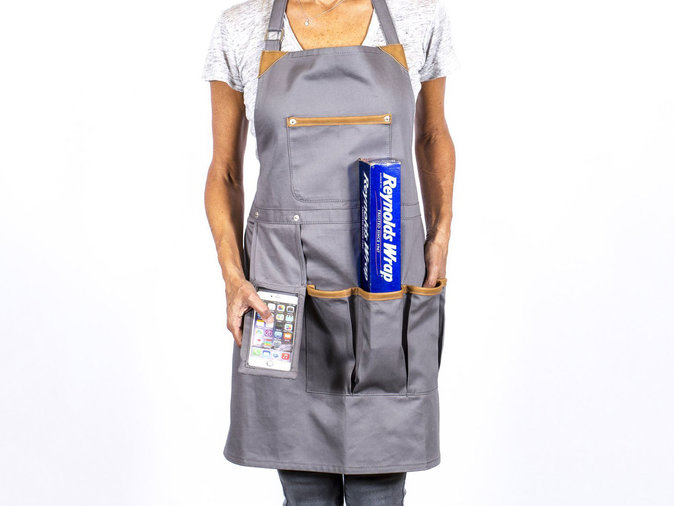 Apron with Cell Phone Pocket