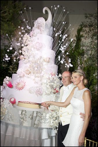 Albert II of Monaco wedding cake