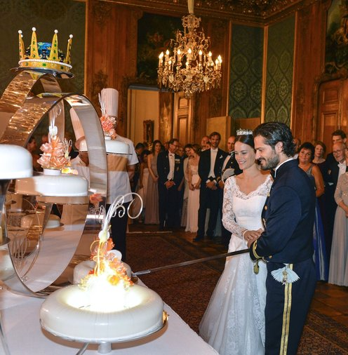 Sofia of Sweden wedding cake
