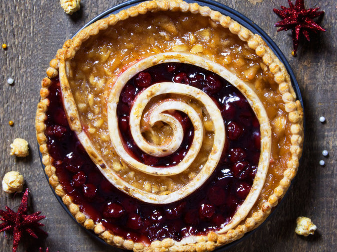 Cherry Apple Swirl Pie