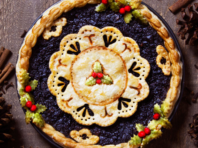 christmas themed lace pie - Christmas Pies