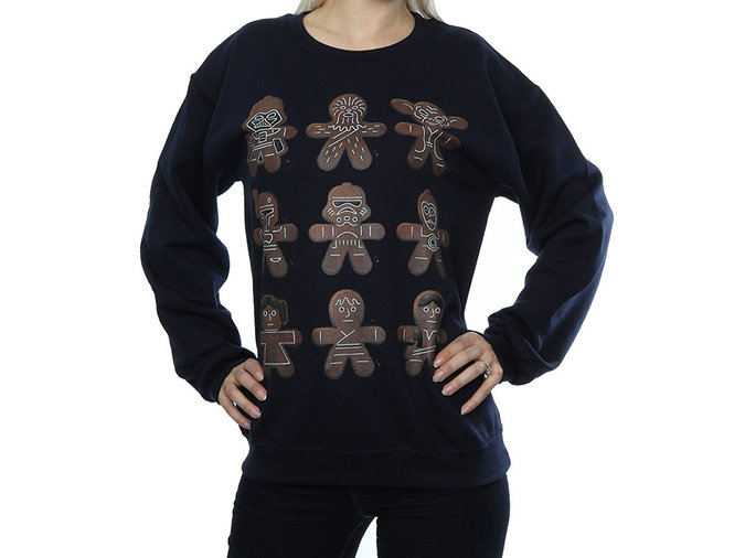 star wars gingerbread men sweater