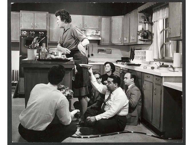 Julia Child on the set of The French Chef, 1963