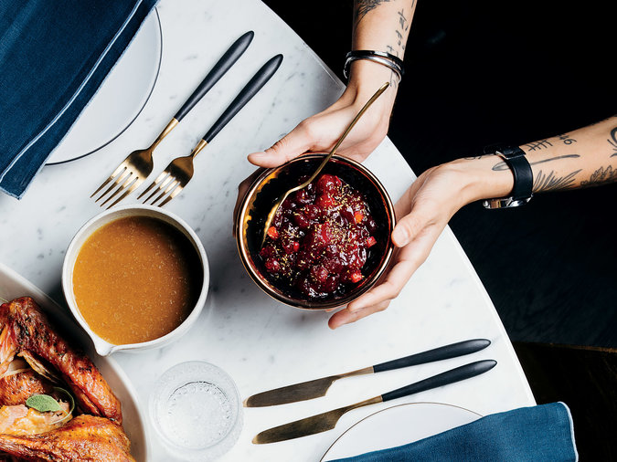 Cranberry-and-Citrus Chutney with Fennel Pollen