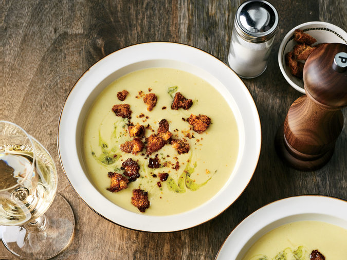 Potato Soup With Sage Butter And Rye Crumbs