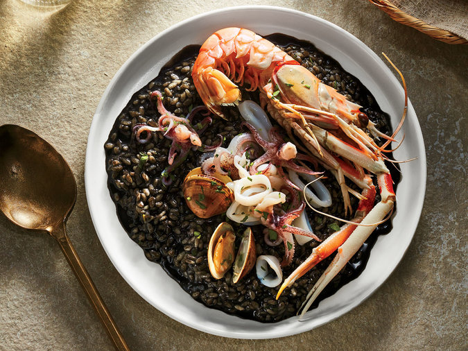 Langoustine and Squid Ink Risotto