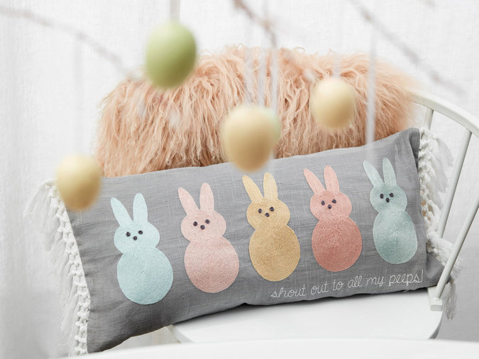Peeps Fringe Accent Pillow