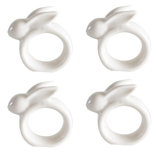 Easter Rabbit Porcelain Napkin Rings