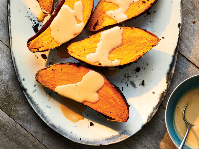 Ember Roasted Sweet Potatoes with Coconut Caramel