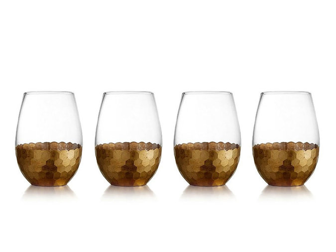 Gold Stemless Glassware